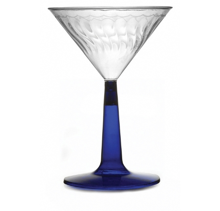 6 oz Martini Glass with Blue Base