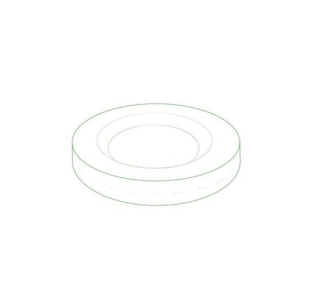 "2.5"" LID FOR 2 OZ PORTION CUP"