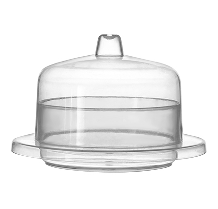 "2.4"" Round Domains w/Lid"