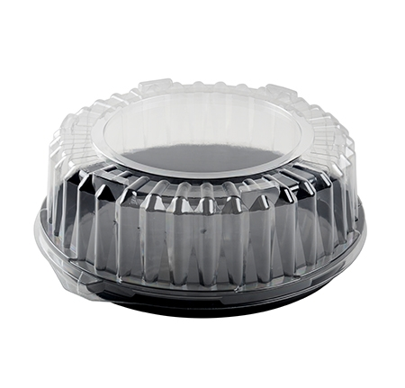 "12"" DOME LID W/LOCKING RING, PETE"