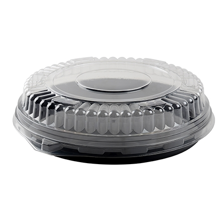 "12"" LOW DOME LID W/NESTING RING, PETE"