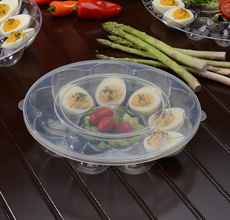 "9"" - 12 Slot Egg Tray w/Flat Lid"