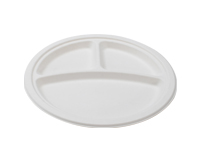 "9"" - 3 SECTION ROUND PLATE"