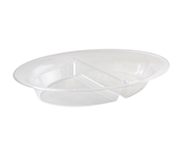 "16"" X 11"" 2 SECTION OVAL TRAY"